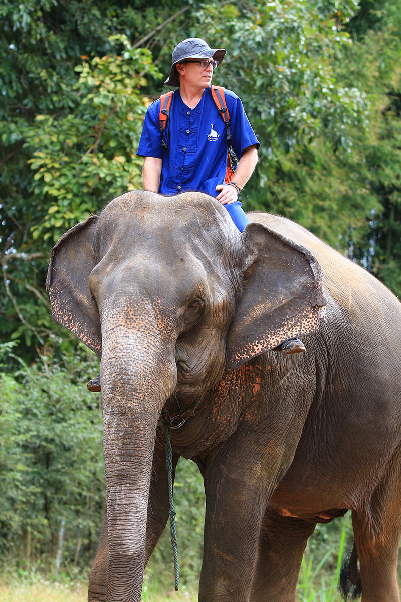 John Shors in Southeast Asia on Elephant