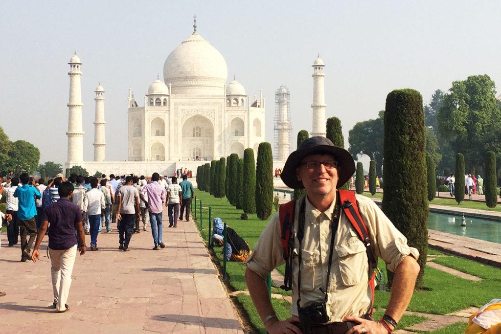 John Shors at the Taj Mahal